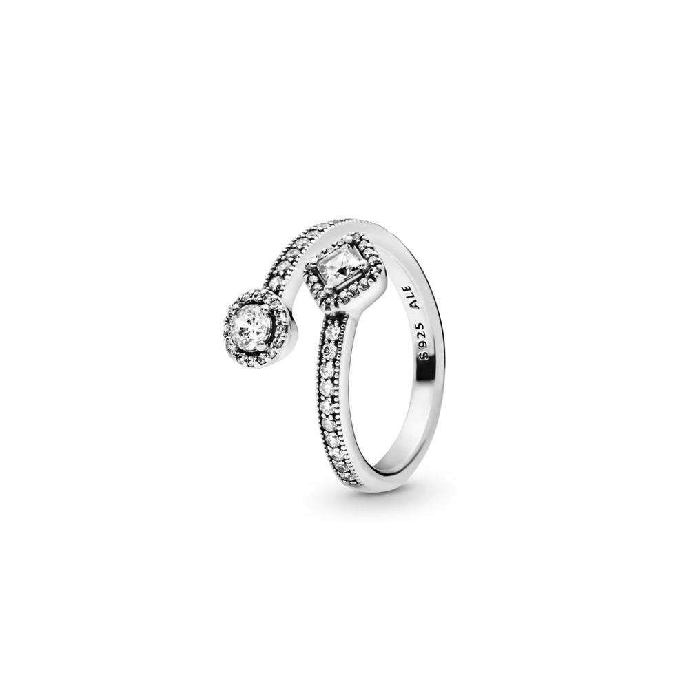 טבעת כסף אלגנטיות עוטפת