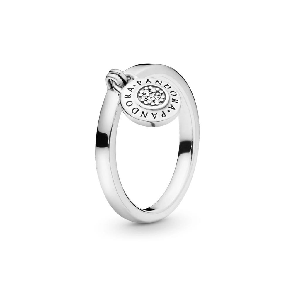 טבעת כסף סוגר חתימת PANDORA