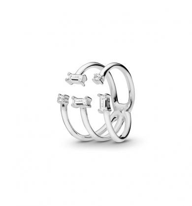 טבעת זהב זוהר אלגנטי