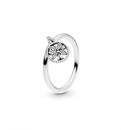טבעת כסף זרקון לבן