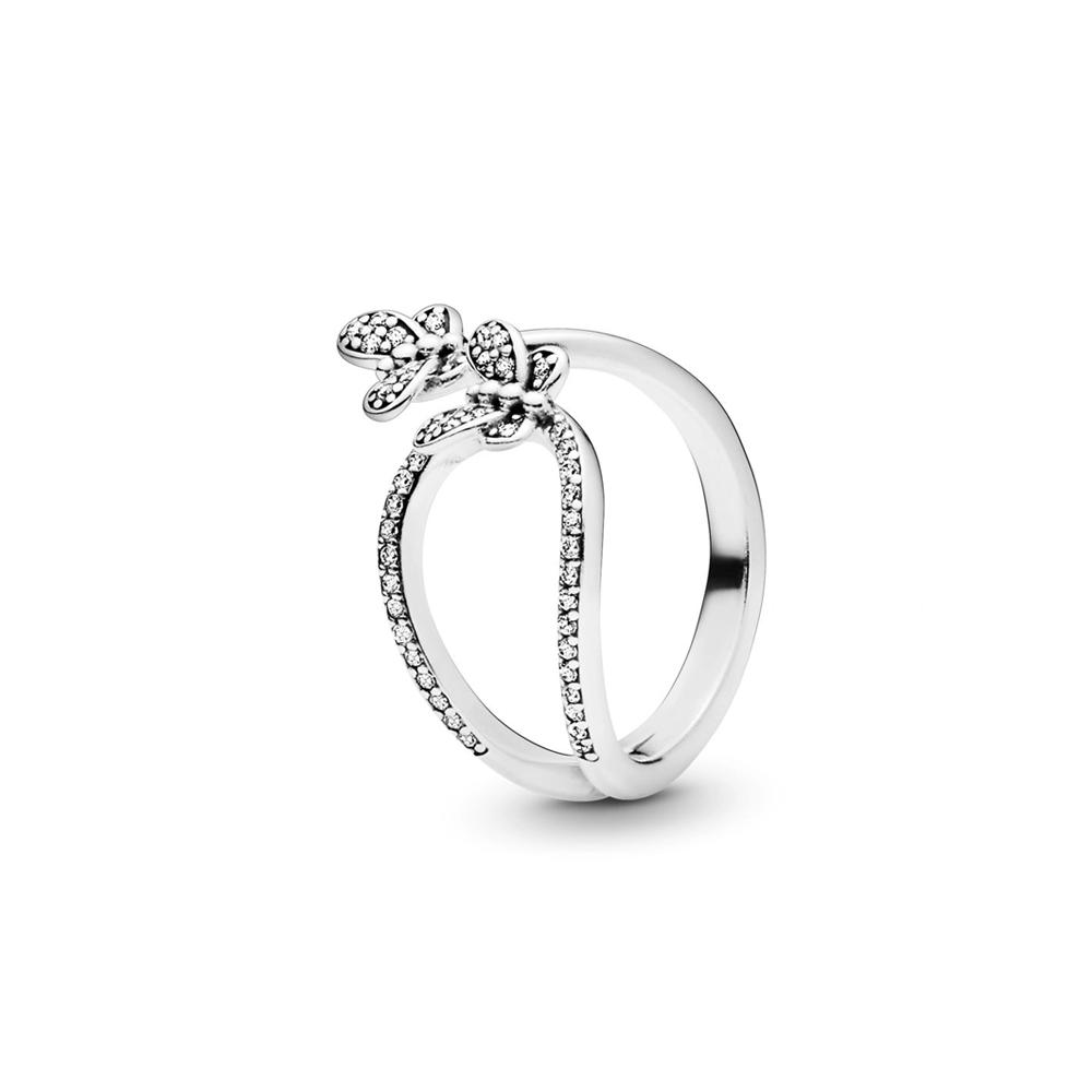 טבעת כסף פרפרים מרהיבים