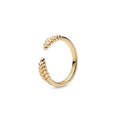 טבעת SHINE פתוחה גרגירי דגן