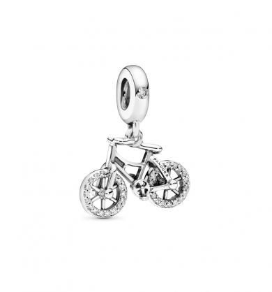 תליון כסף אופניים זוהרות