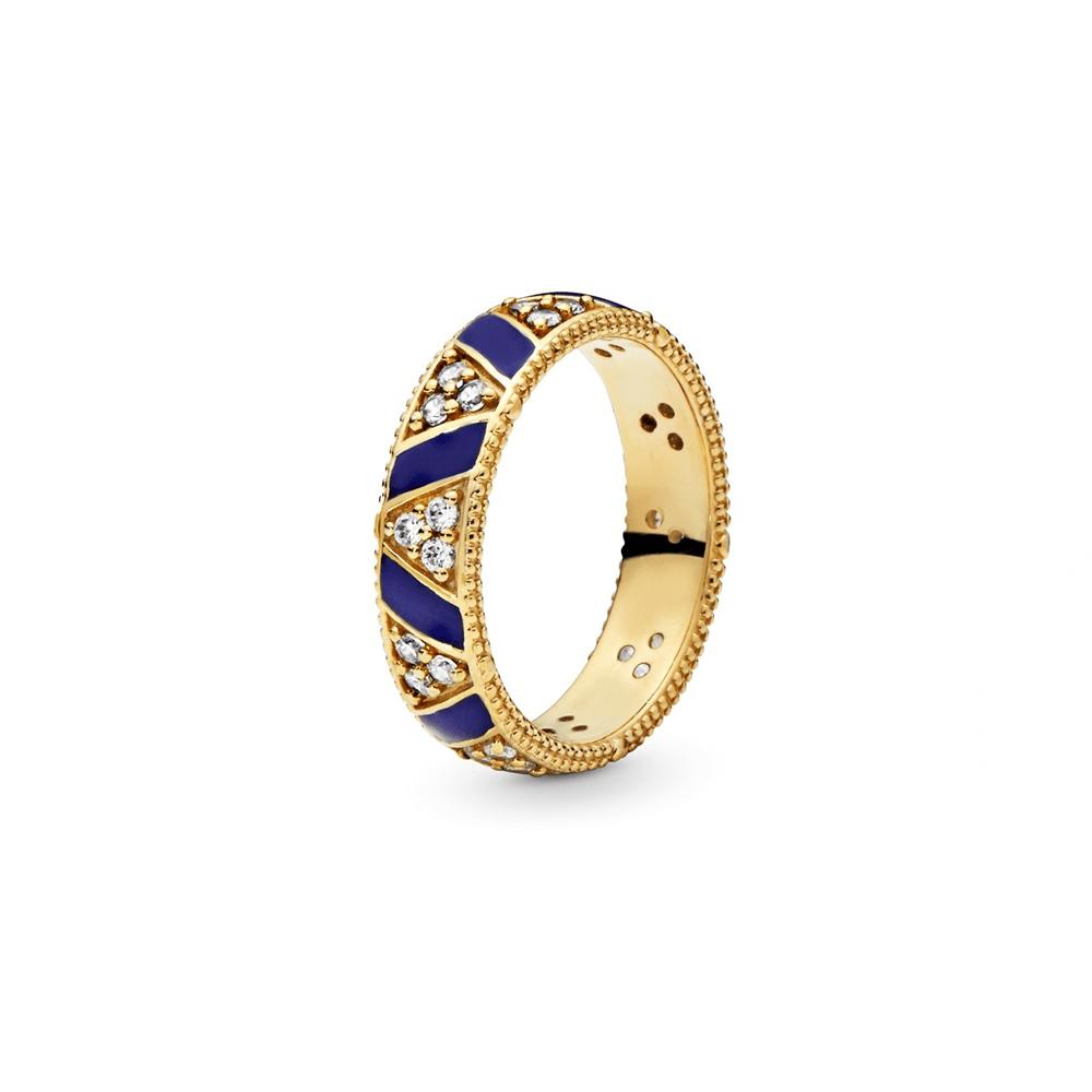 טבעת SHINE עבה פסים אקזוטיים