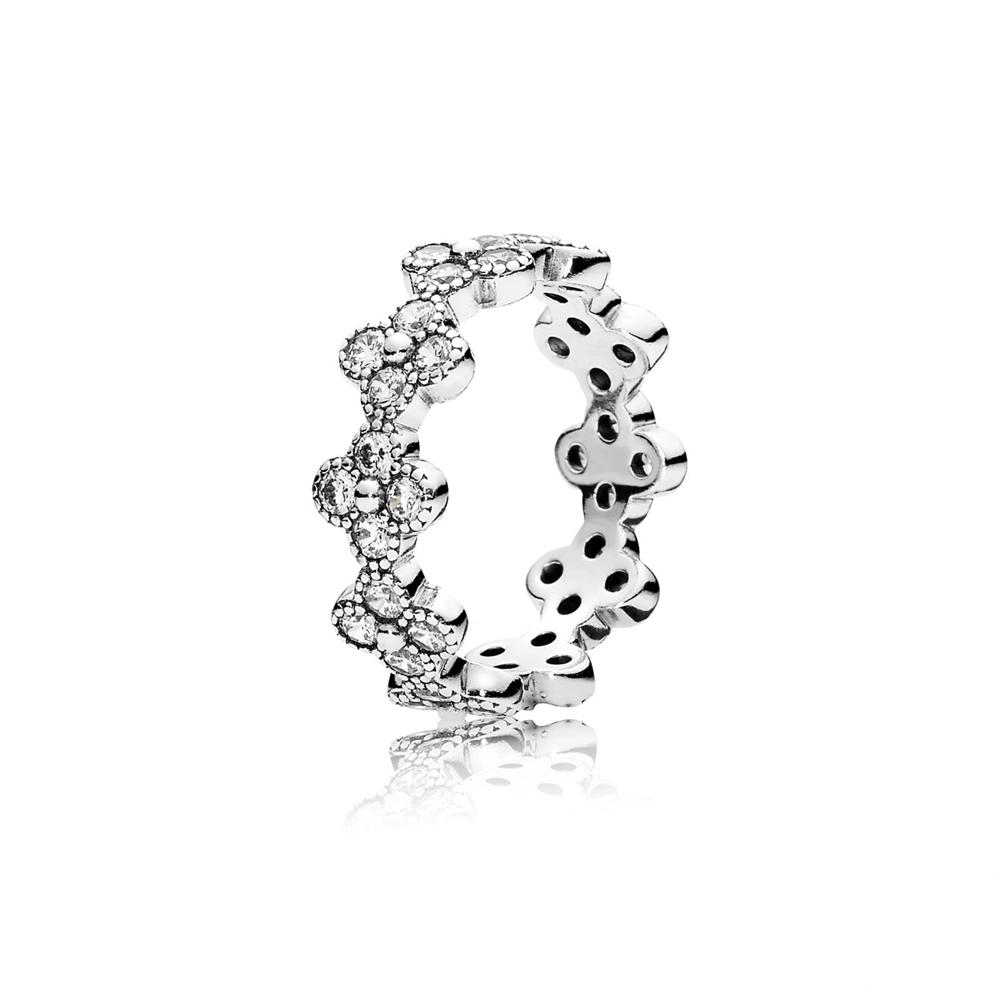 טבעת כסף פריחה אוריינטלית