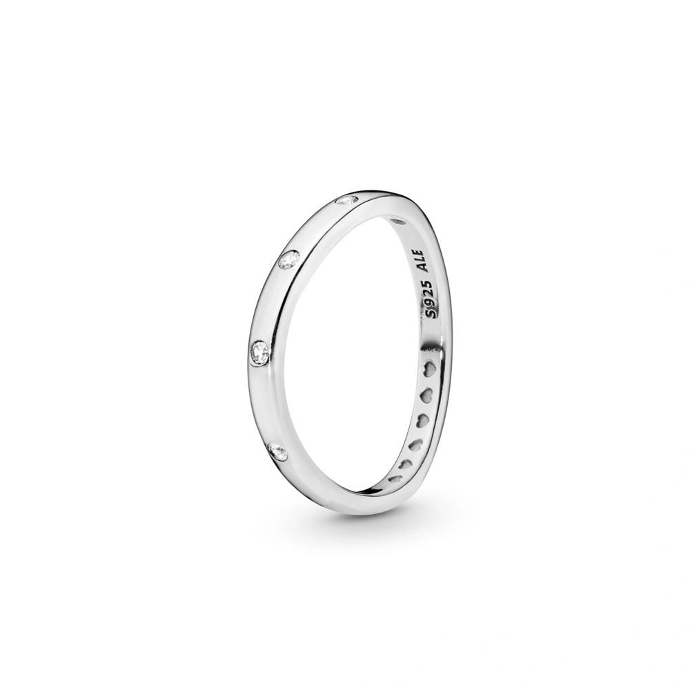 טבעת כסף טיפות טל מפותלות