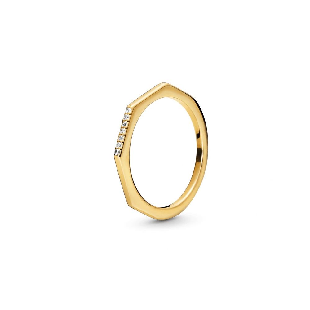 טבעת שיין גיאומטרית נוצצת