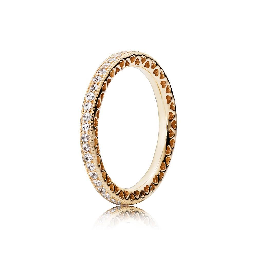טבעת זהב לבבות PANDORA