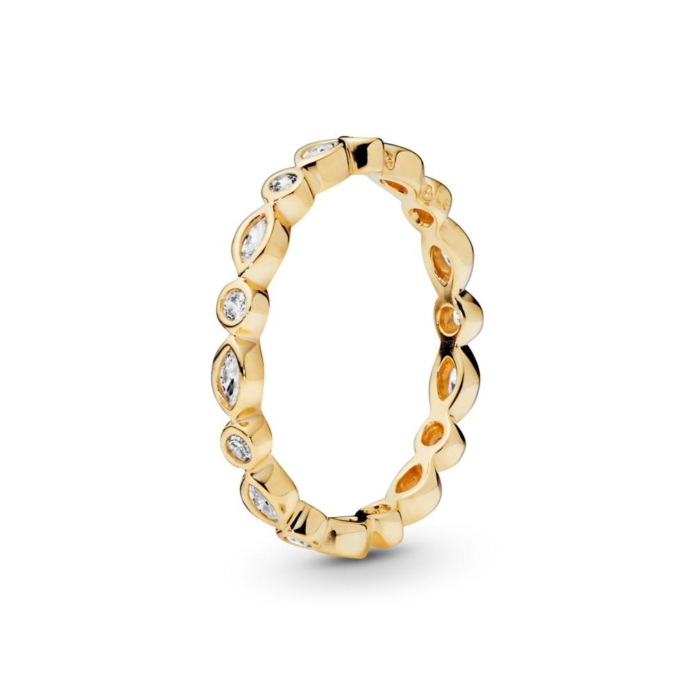 טבעת זהב איטרניטי בשיבוץ זירקונים