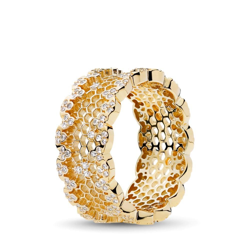 טבעת SHINE תחרת חלת דבש