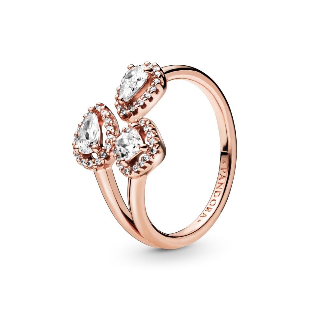 טבעת רוז פתוחה זויות גיאומטריות
