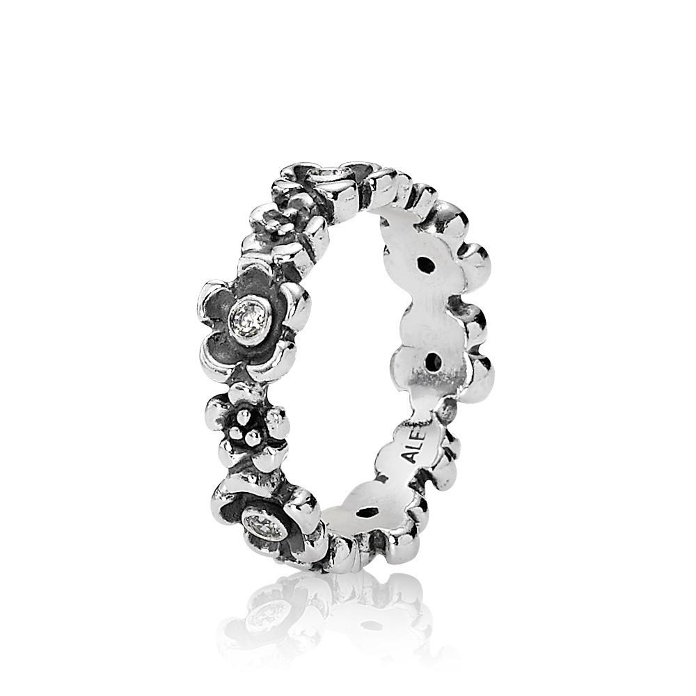טבעת כסף שדה פרחים