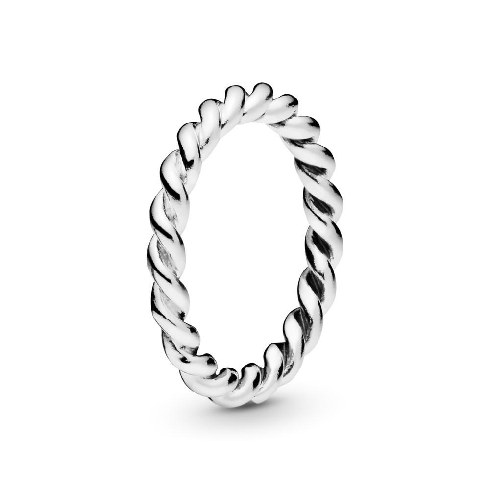 טבעת כסף טוויסט כפול