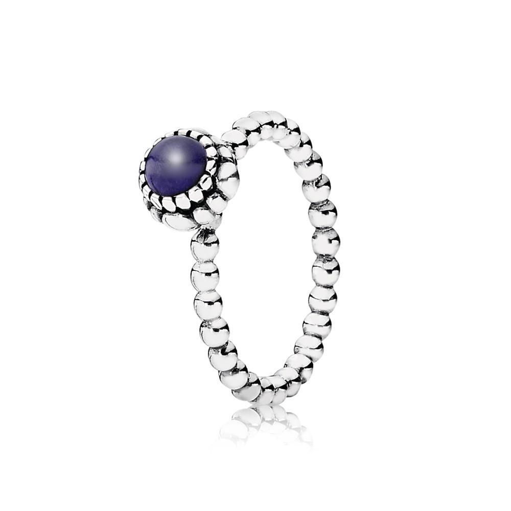 טבעת כסף עם ניצן במרכזה לאפיס לאזולי