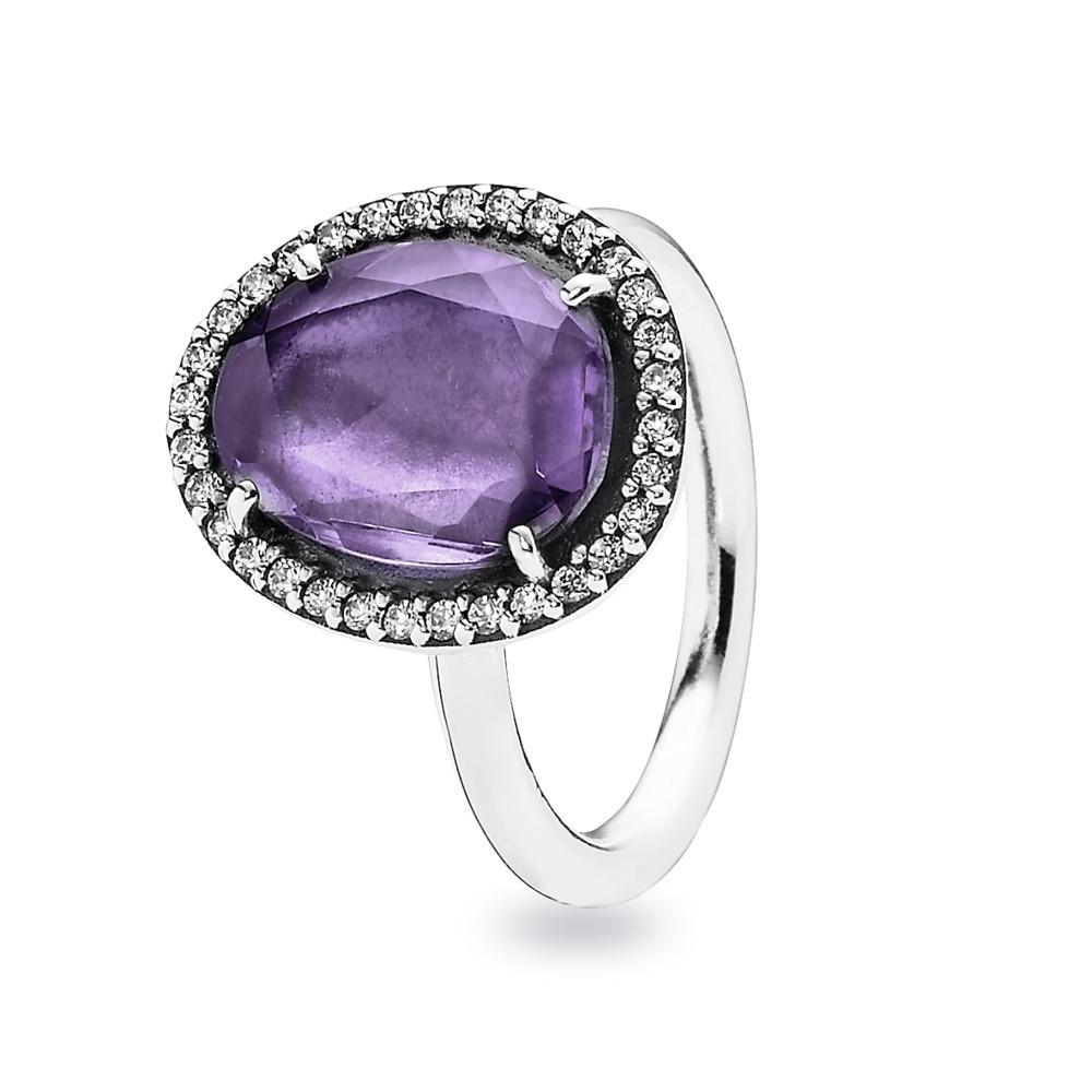 טבעת כסף אמטיסט ושיבוץ זרקונים
