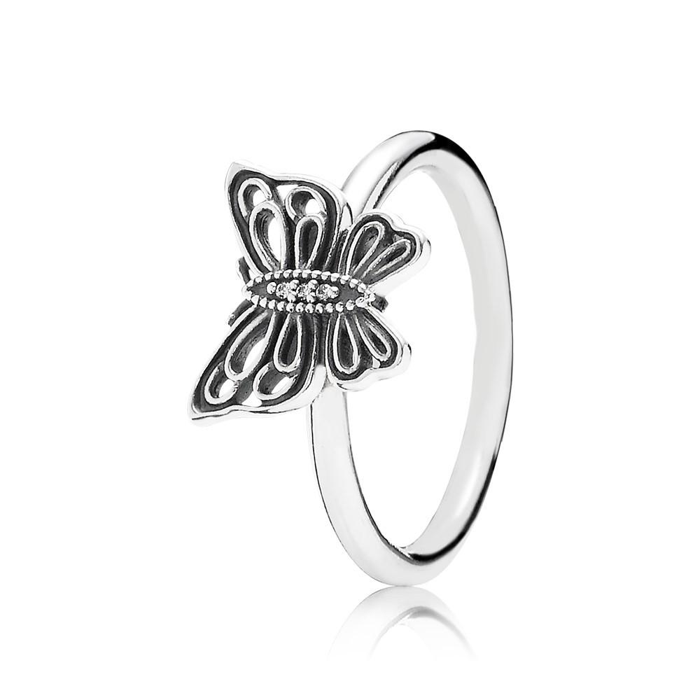 טבעת כסף פרפר וינטג