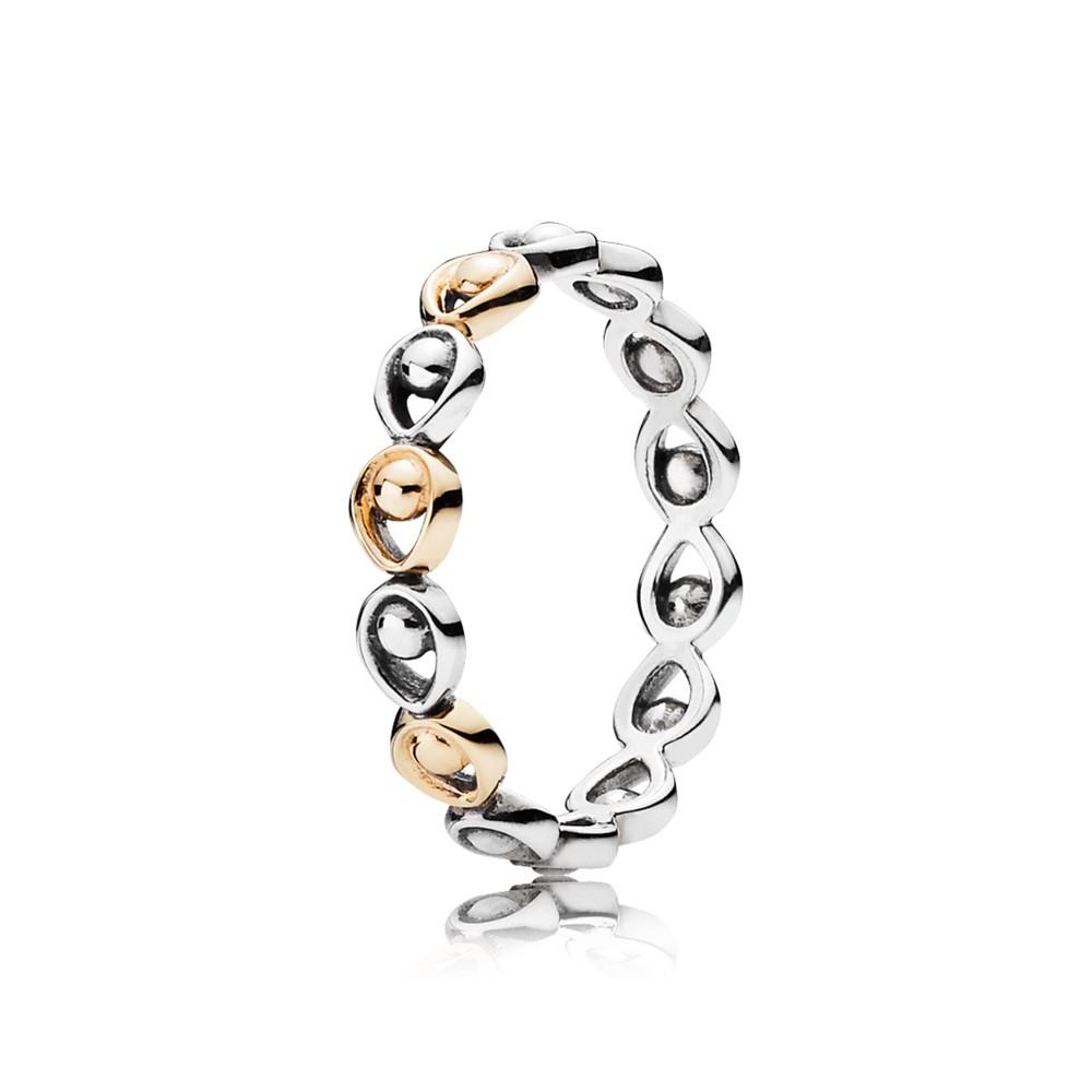 טבעת כסף וזהב תהילת הטווס