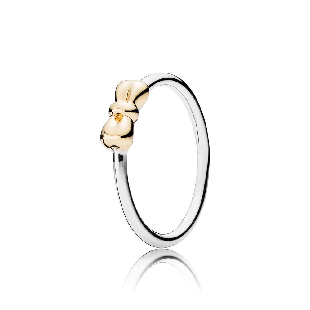 טבעת כסף וזהב  פפיון מעודן