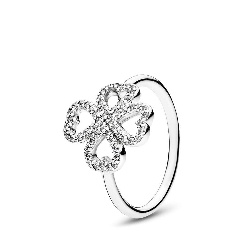 טבעת כסף עלי  כותרת של אהבה
