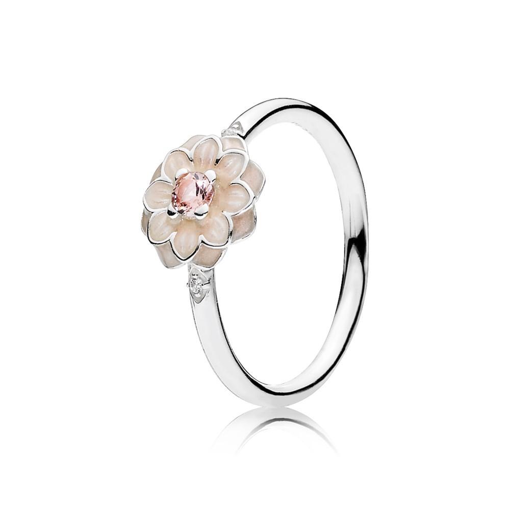 טבעת כסף פריחת הדליה