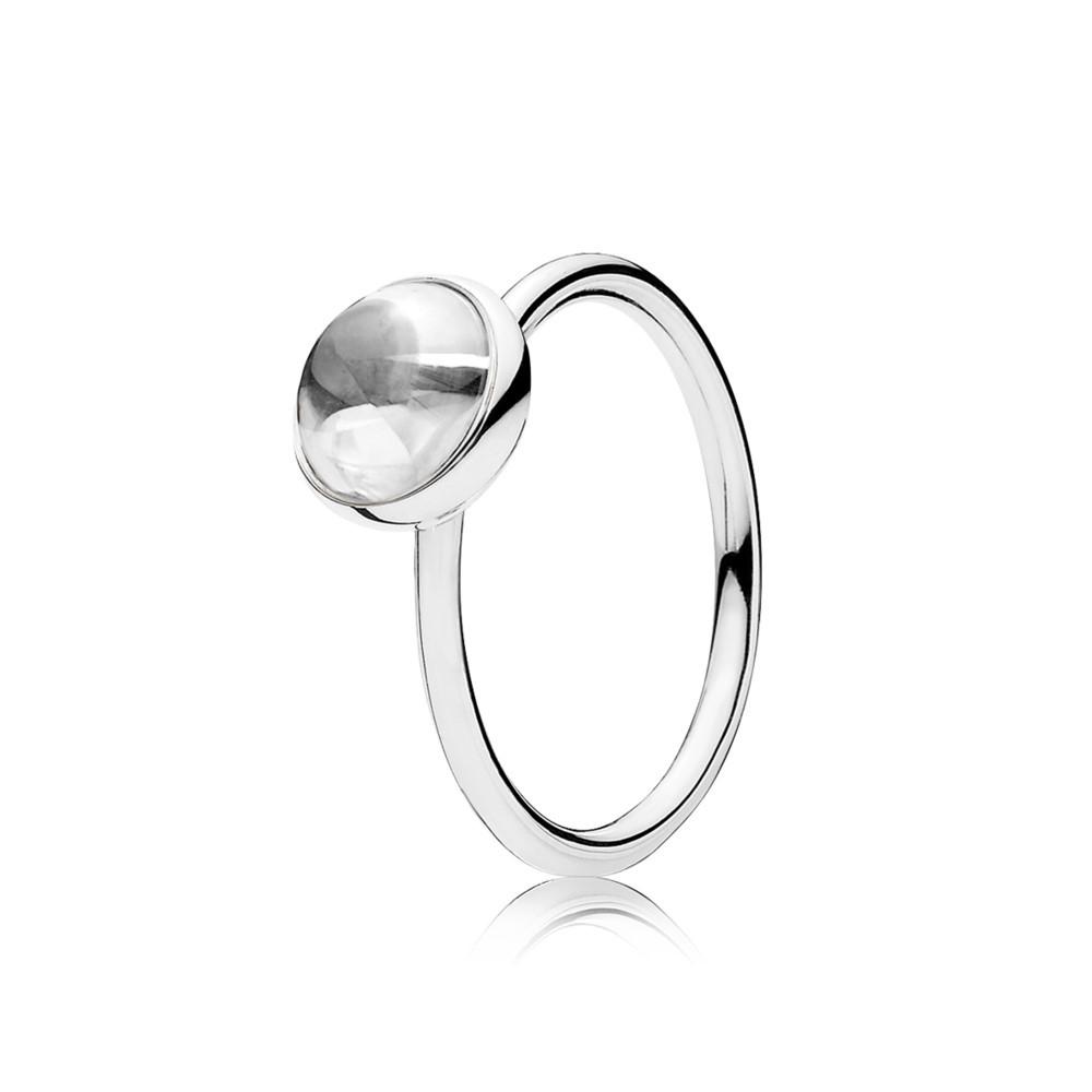 טבעת כסף טיפת טל
