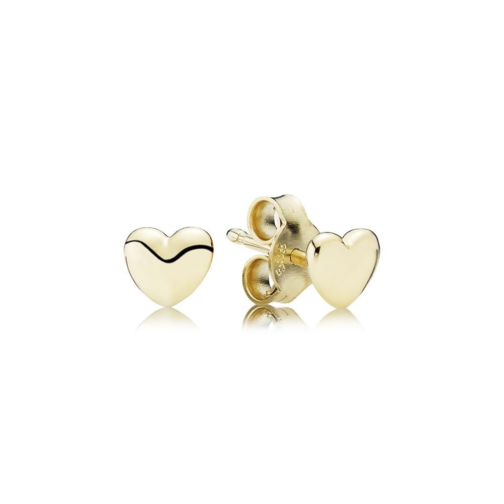 עגילי זהב לבבות מעודנים