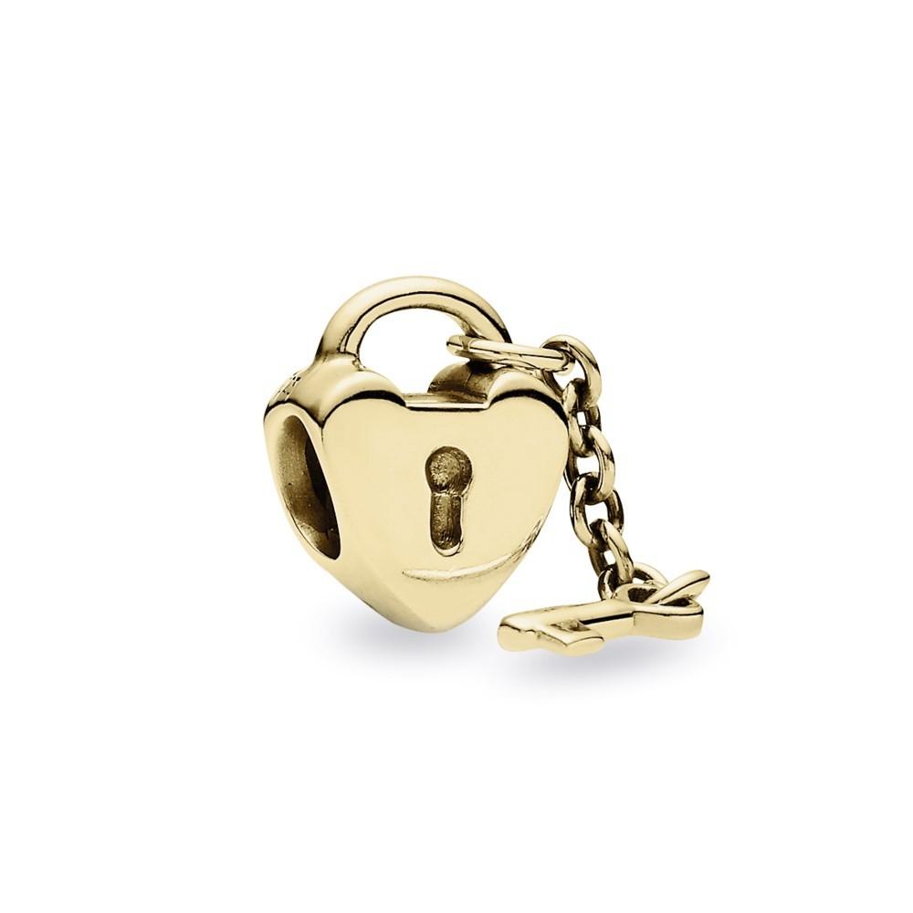 צארם זהב מפתח ללב