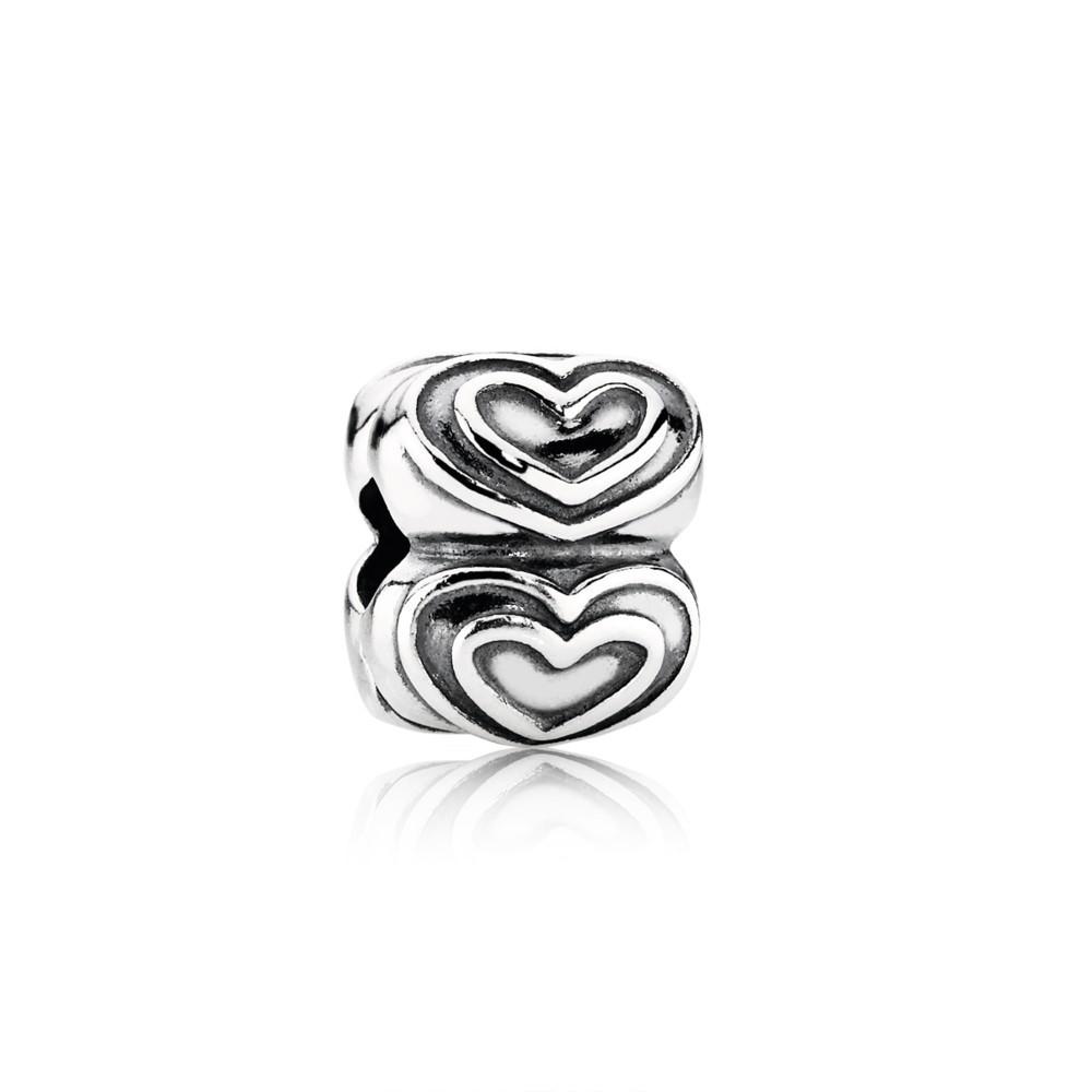 Hearts silver clip