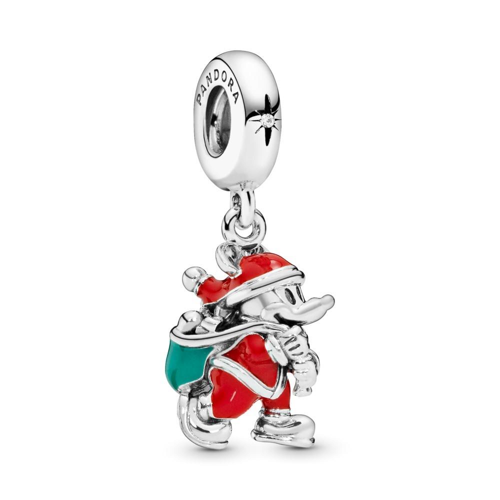 תליון כסף דיסני שק המתנות של סנטה מיקי