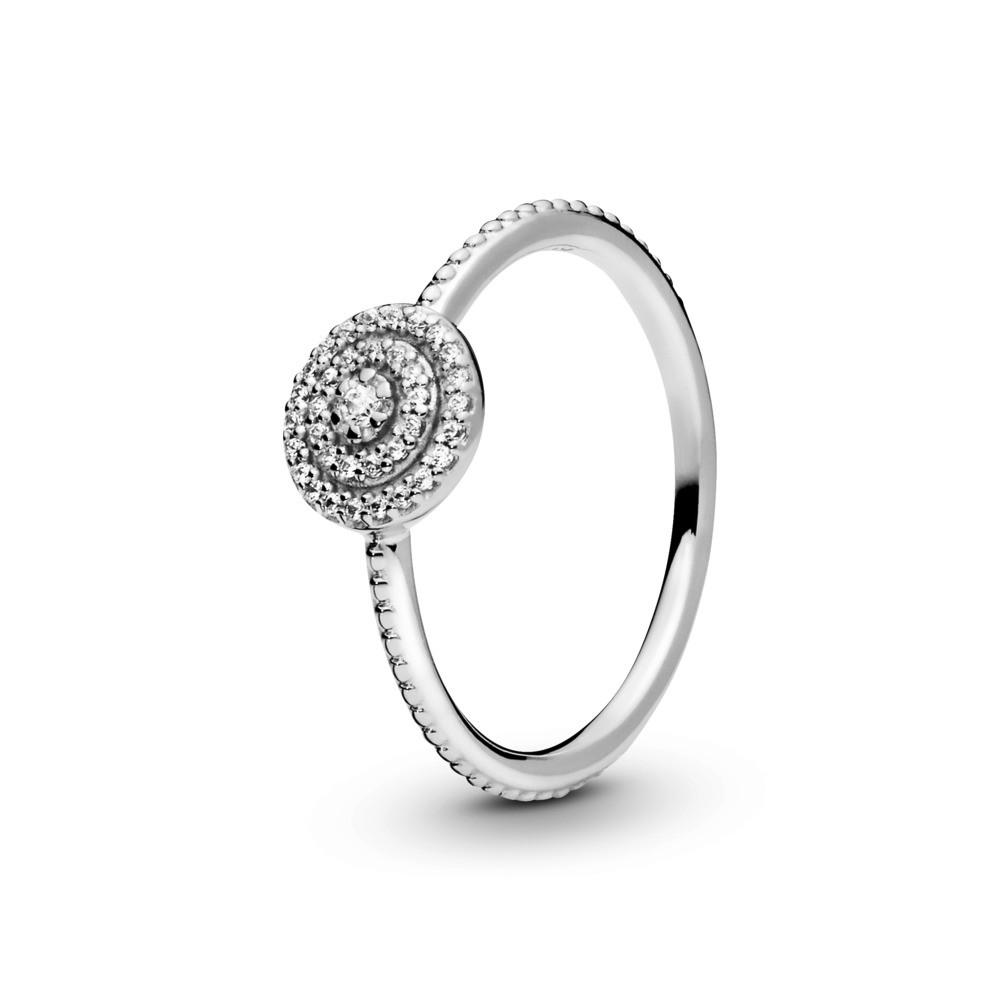 טבעת כסף זוהר אלגנטי