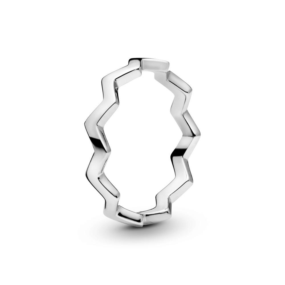 טבעת כסף זיגזג נצחי