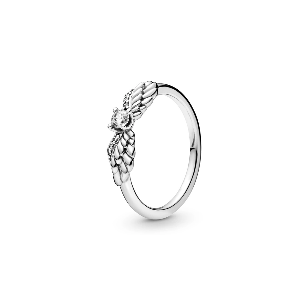 טבעת כסף כנפי מלאכים