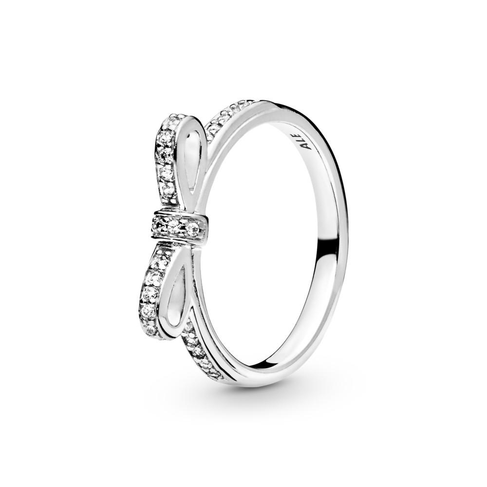 טבעת כסף פפיון משובץ זרקונים