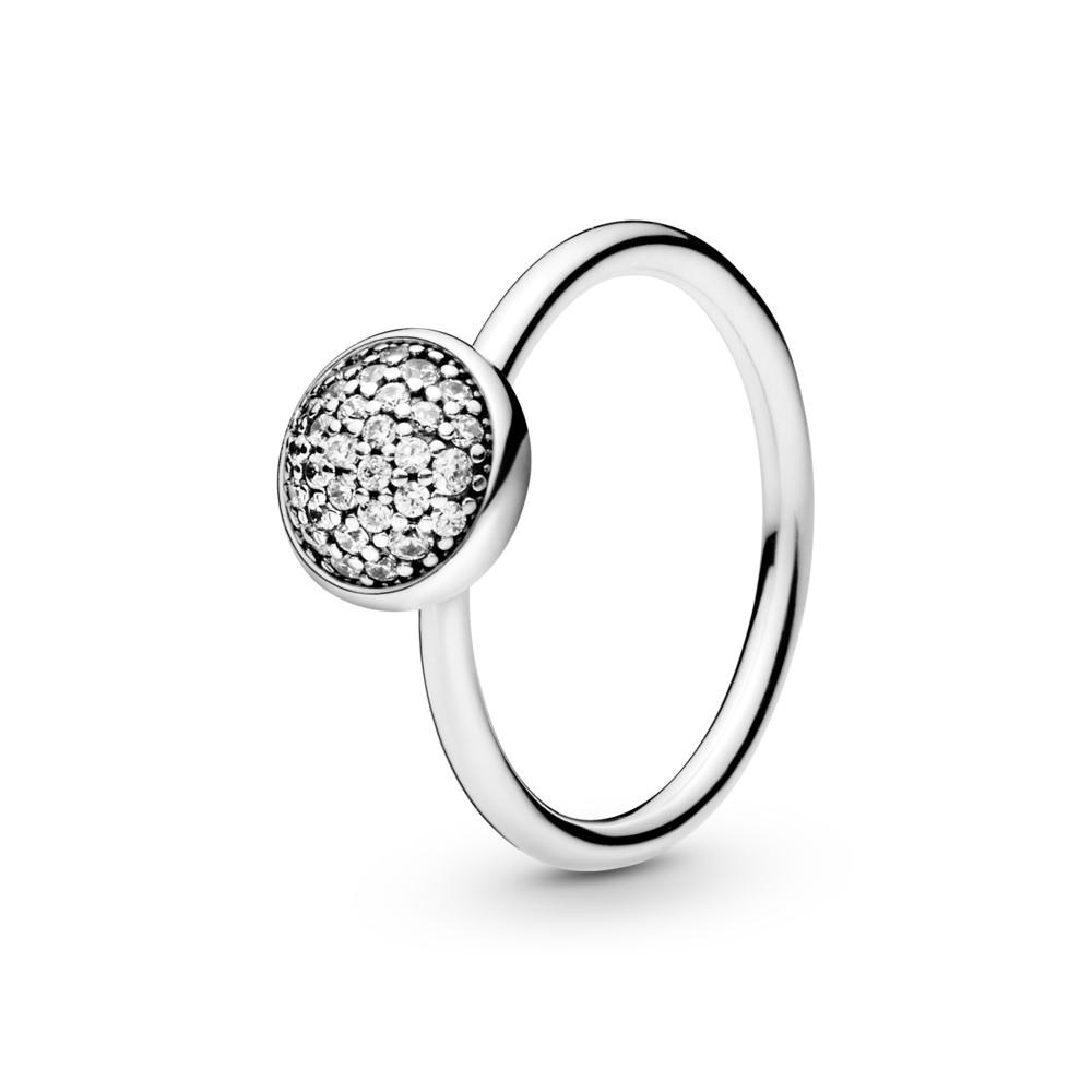 טבעת כסף טיפה מנצנצת