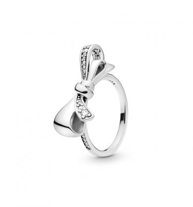 טבעת כסף לבבות PANDORA קורנים בירוק מנטה