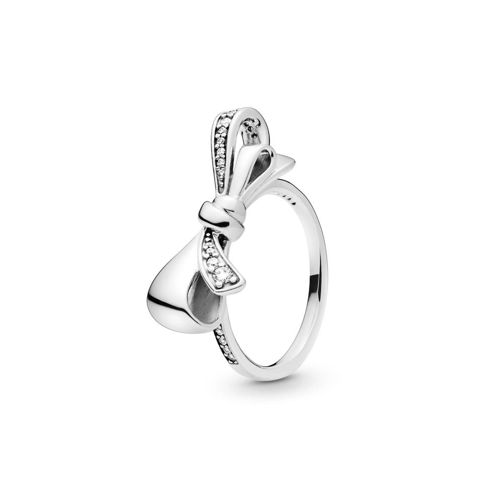 טבעת כסף פפיון מבריק