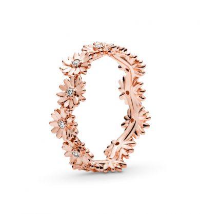 טבעת רוז כתר חרציות נוצצות