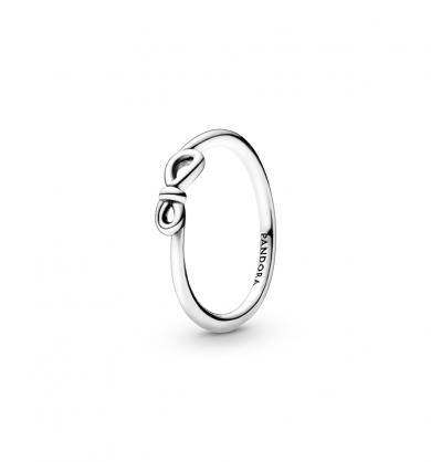 טבעת כסף קשר אינפיניטי