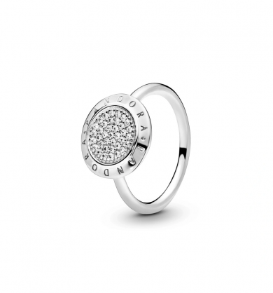 טבעת חותם PANDORA בכסף סטרלינג שיבוץ זרקונים