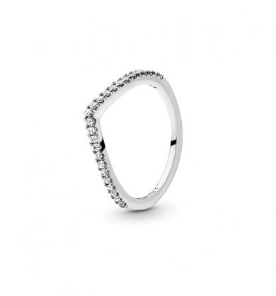 טבעת כסף משאלה זוהרת
