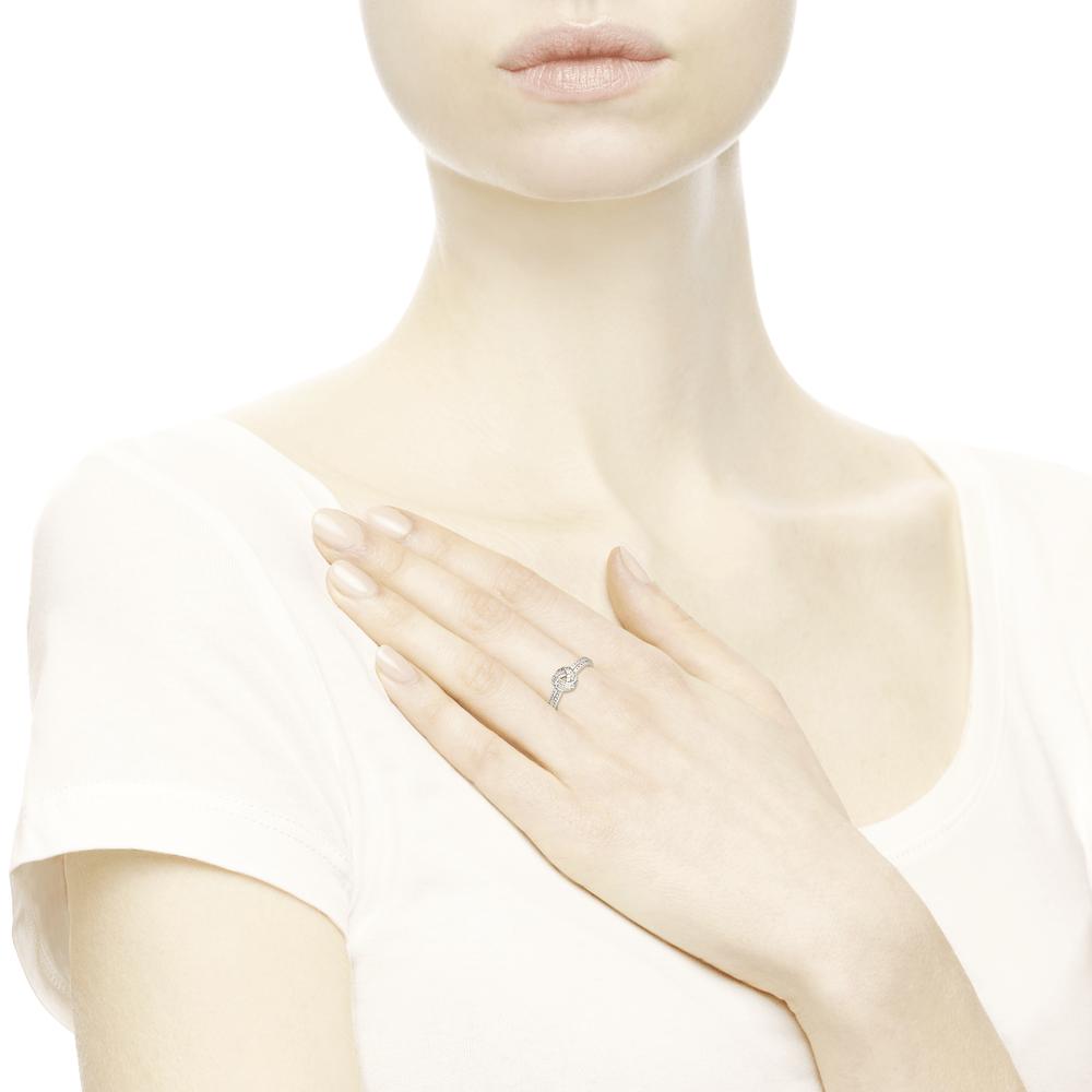 טבעת כסף קשר אהבה מנצנץ