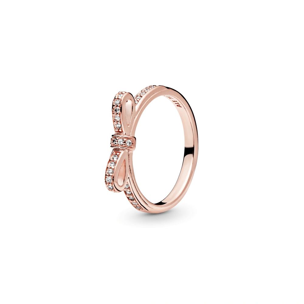 טבעת פפיון משובץ זרקונים PANDORA רוז
