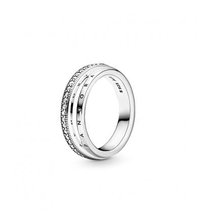 טבעת כסף טריפל פאווה