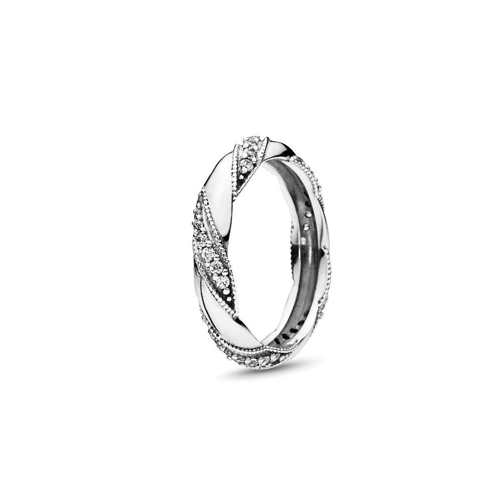 טבעת  כסף חבלי אהבה