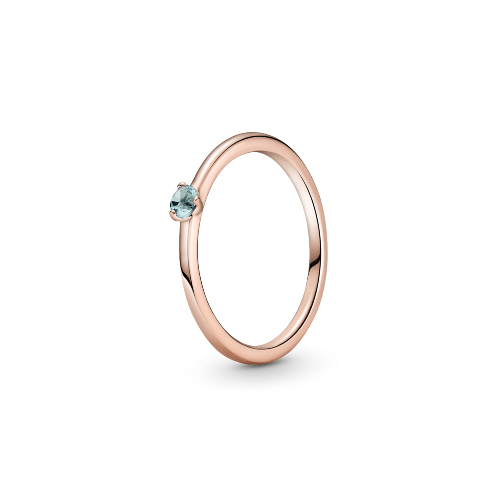 טבעת רוז סוליטייר תכלת